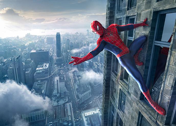 Motiv Spiderman des Fotokünstlers Uli Staiger für die Fotoausstellung Perspektiva in Oederan
