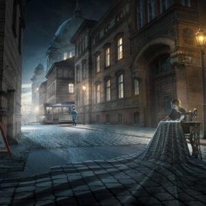 Motiv Näharbeiten von Uli Staiger, Plakat DIN A1
